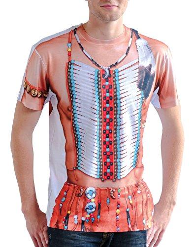 Boland 84228 - Fotorealistisches Shirt Indian, Kostüme für (Kostüm Entführt Halloween)