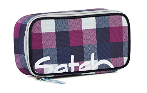 Satch by Ergobag Schlamperbox Berry Carry - Lila 966 karo lila blau