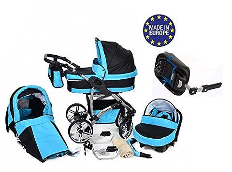 Twing - Baby Sportive Système de voyage 3 en 1 avec landau, siège auto, base Isofix, poussette et accessoires bébé