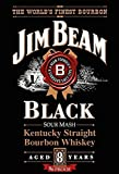 Schatzmix Jim Beam Black Kentucky Straight Bourbon Whiskey Alkohol Metal Sign deko Sign Garten Blech