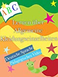 Lernen über Allgemeine Kleidungseinzelheiten Deutsche Sprache Pädagogisches Video