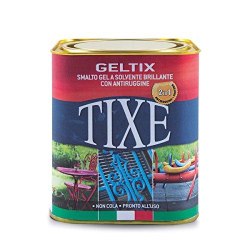 TIXE 105614 Geltix Smalto Gel Antiruggine, Batik, Nero Opaco, 9.5 x 9.5 x 10 cm, 750 ml