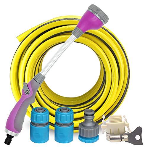 8 in 1 Pol Spritzpistole Bewässerung Multifunktions-Langstiel-Hochdruck-Wasserpistole for die Gartenbewässerung HUYP (Size : 20m Suit) -