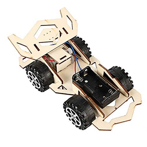 1 Stück Holz Montage Diy Rennwagen Modell Spielzeug Prinzip Erkenntnis Lehre Spielzeug, QHJ Fernbedienung Spielzeug, Um Ihr Kind Geburtstags Geschenk, Weihnachts Geschenk, Spielzeug Für Kinder