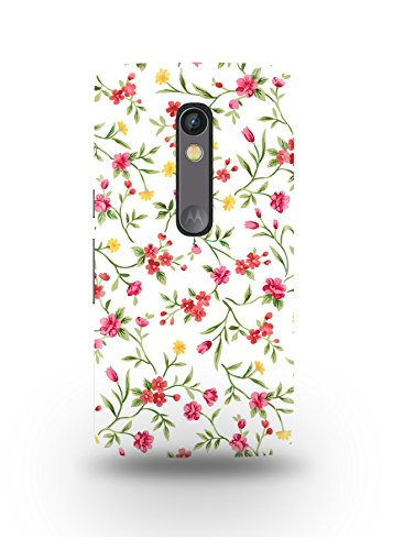 Moto X Play Cover,Moto X Play Case,Moto X Play Back Cover,Smaill Vintage Floral Pattern Moto X Play Mobile Cover By The Shopmetro-12380
