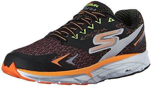 Skechers Men's Go Run Forza Black and Orange Track and Field Shoes - 9 UK/India (43 EU)(10 US)
