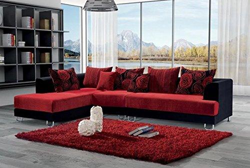 Salotto Divano Rosso.Divano Salotto Angolare In Tessuto Rosso Migliori Divani