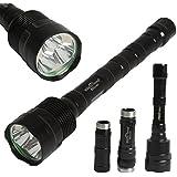 Sidiou Group TR3T6 3800Lm 3x CREE XML XM-L T6 LED Flashlight Torch