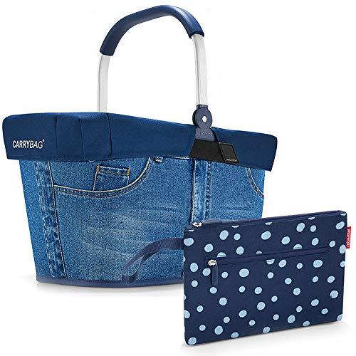 reisenthel Einkaufskorb carrybag Plus Cover Plus case 2 Einkaufskorb Einkaufstasche Einkaufsset (Jeans)