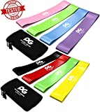 Sports Equipment Best Deals - Resistance Loop Bands, BEST Set of 4 Home Fitness Exercise Bands for Workout & Physical Therapy, FREE Ebook & Online Video, Pilates, Yoga, Rehab, Improve Mobility and Strength, Life Time Warranty
