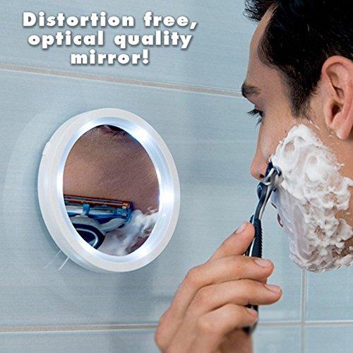 Naisidier Kosmetik, 5x Lupe, Reise-Make-up-Spiegel mit LED-Leuchten mit Brite (Make-up-spiegel-leuchten)