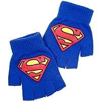 Superman DC Comics Superman Classic guantes sin dedos, Logotipo azul