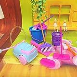 Kuulee 9pcs simulation zu hause reinigungswerkzeuge playset mini - wort besen wischen entstauber spielzeug als spielzeug für die kinder.