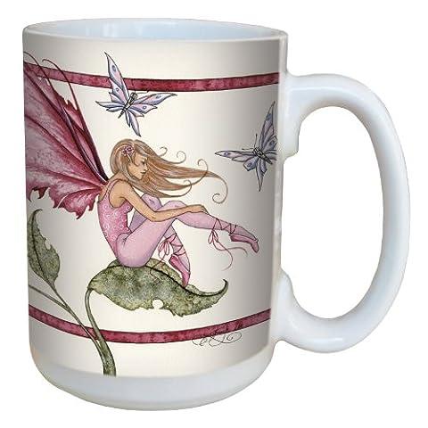 Tree-Free Greetings lm43588 15 oz Fantasy Fairy Ceramic Mug with Full Sized Handle, Pink