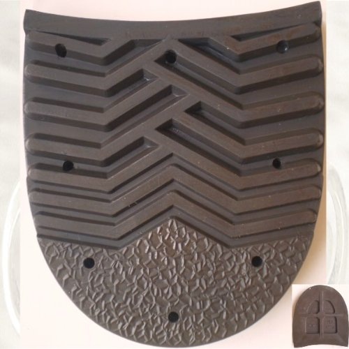 4 X Conti 352 Absatz Absatzbelag Profilabsatz Absatzlauffleck braun/dunkelbraun Maße: L=9 cm, B= 8 cm; Dicke: 1 cm [65 / 4-34 / 352 170 1/2] -