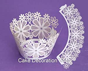 Caissette cupcake Fleur dentelle wrap Culpitt