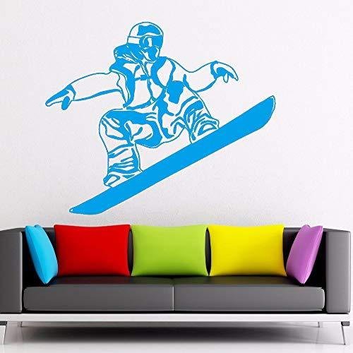 Kunst Wandaufkleber Snowboard Extremsport Raumdekoration Vinyl Art Removeable Wandbild Athlet Poster Player Wintersport ~ 1 100 * 124 cm