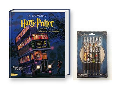 Carlsen Verlag Harry Potter und der Gefangene von Askaban (vierfarbig illustrierte Schmuckausgabe) + 1. original Harry Potter Kugelschreiber (sortierte Motive)
