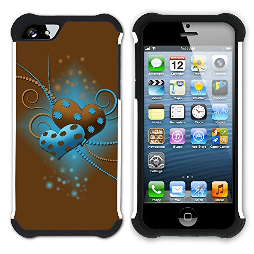 Graphic4You Beautiful Love Design Hart + Weiche Kratzfeste Hülle Case Schale Tasche Schutzhülle für Apple iPhone SE / 5 / 5S Design #15