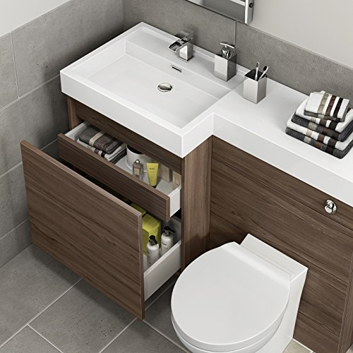 1200mm Walnut Vanity Unit Toilet Sink ...