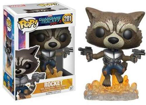 Marvel Guardians of the Galaxy Wackelkopf Figur Rocket Raccoon Vol. 2 Marvel Funko Pop Vinyl 11cm (Pop Rocket Raccoon)