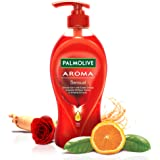 Palmolive Aroma Sensual Body Wash, Gel Based Shower Gel with Exotic Orange Essential Oil, Rose Flower & Ginseng Extracts - pH