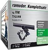 Rameder Komplettsatz, Anhängerkupplung abnehmbar + 13pol Elektrik für VW TIGUAN (142296-36223-1)