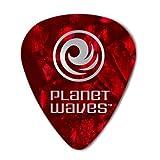 D'Addario 1CRP6-100 Confezione da 100 Plettri Duri Planet Waves, in Celluloide, Rosso Perla