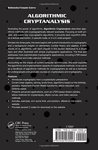 Algorithmic Cryptanalysis (Chapman & Hall/CRC Cryptography and Network Security Series)