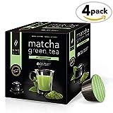 King Cup - zuckerfreier Matcha Grüntee - 4 Packungen x 10 mit Nescafè* Dolce gusto*® kompatible Kapseln (40 Kapseln)