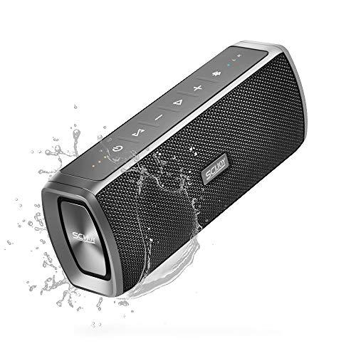 SCIJOY Kabelloser Bluetooth Lautsprecher, 2x8W Dual Reinem Bass Stereo mit 10 Stunden Spielzeit, Freisprechfunktion für Handy, BT4.2 WTS IPX6 Wasserdicht für Zuhause/Outdoor/Sport(Mehrfarbig)