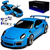 AUTOart Porsche 911 991 GT3 RS Miami Blau Ab 2013 78167 1/18 Modell Auto mit individiuellem Wunschkennzeichen