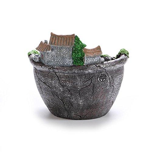 OUNONA Vasi di fiore pianta Fata Vaso da giardino con dolci della casa (argento) - 4