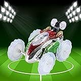 Altsommer Spielzeugauto mit Fernbedienung für Kinder Spielzeug,RC Auto mit Bunte LED-Leuchten,Spiralrotation, 360 ° Vorderachsdrehung für Licht,Super Track für Kinder Gescheken (A)