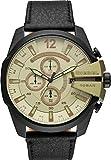 Diesel Herren-Armbanduhr Analog Quarz One Size, grün, schwarz