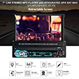 Diglife Bluetooth Car Radio,Single Din Car Stereo MP5 Player with GPS Navigation +