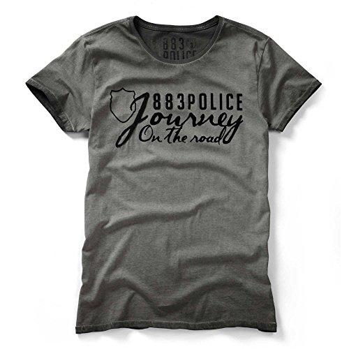 883 POLICE Chance Graphic Print T-Shirt   Grey Grey