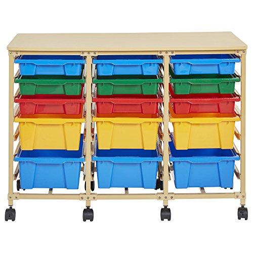 Ecr4kids Schale Handy-Organizer mit, Sand, verschiedene Farben, 15-Tray, sortiert, 1 (Cubby Organizer)