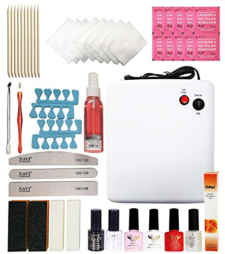 Crisnails Kit de Decoración para Manicura y Pedicura, con Todos los Accesorios y las Herramientas Necesarios para Manicura y Pedicura Profesional