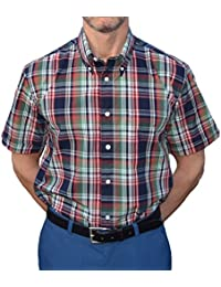 Warrior Navy & Green Check Shirt Sizes LARGE-4XL Available