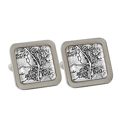 Map Cufflinks Personalised With Postcode Of Choice Personalised 1805 1874 Old Series Map Cufflinks