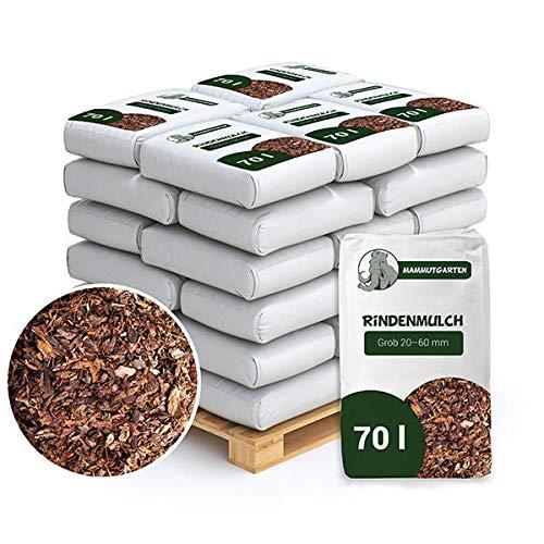 MammutGarten Rindenmulch Kiefer Rinde Garten Grob 20-60mm 70l Sack x 36 STK (2520 L)