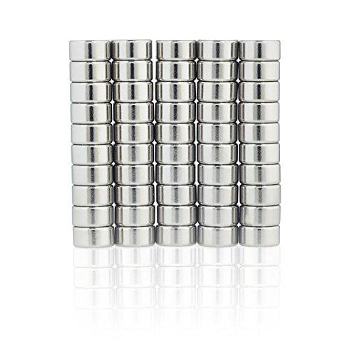 Lumaland Mini Magnete praktisch super starker Halt neodym Magnete ultra stark für Whiteboard Magnettafel und Kühlschrank 30 Stück, Ø 8 x 3 - Mini-kühlschrank-kalender