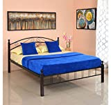 #2: @home by Nilkamal Nimbo Queen Size Bed without Storage (Matte Finish, Black)