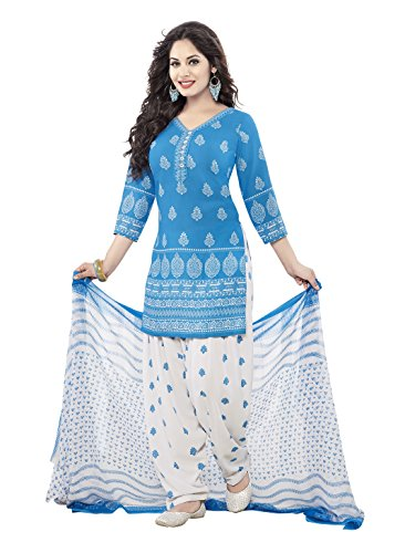 varsha Unstitched synthetic leon Salwar/Churidar/Patiala Dress Material with Dupatta
