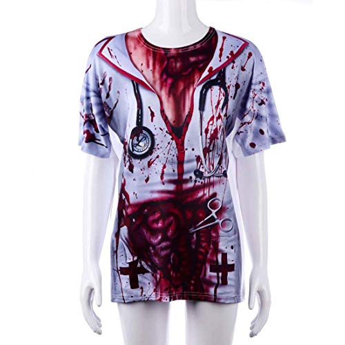 Yuyudou Zombie Krankenschwester Kostüm für Damen, Halloween Adult Bloody Sexy Horror Dress Up, Cosplay Kostümparty - Adult Punk Zombie Kostüm