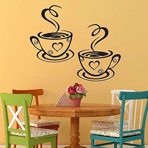 JLSMGS-adesivi murali per tazze da caffè da camera da letto...