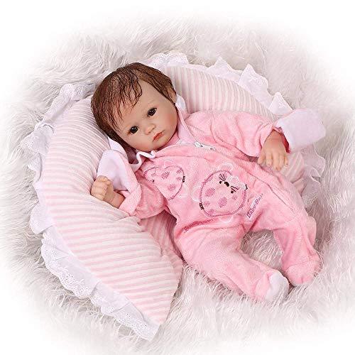 Rocking Horse Newborn Dolls,Lifelike Reborn Baby Doll,Soft Silicone Vinyl Toy,for Gift Free Magnet Pacifier Dummy Sleeping,Eyes Open