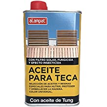 Alampat 10005222 - Aceite para teca color universal, 6 x 12 x 20 cm, transparente