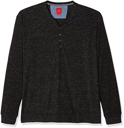 s.Oliver Big Size Herren T-Shirt Grau (Black Melange 9898)